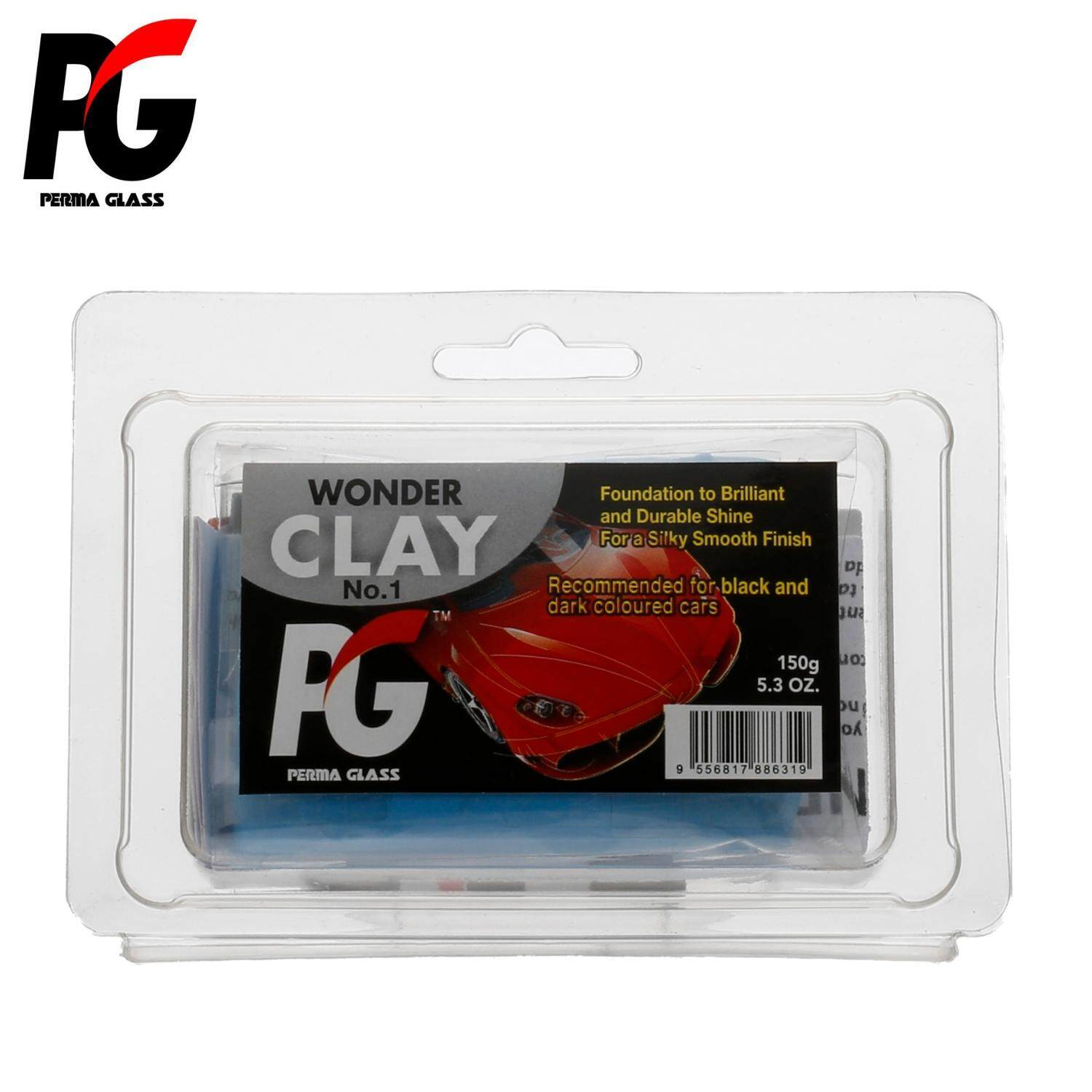 PG PERMA GLASS WONDER CLAY NO. 1 CAR CLEANING CLAY BAR/SURFACE PREPARATION (LOW ABRASIVE LEVEL)(150GM)