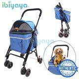 (100% AUTHETNTIC IBIYAYA Pet Happy Trailer Pet Stroller- DA2777 Blue (1 Year Local Supplier Warranty)