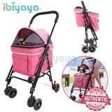 (100% AUTHETNTIC IBIYAYA Pet Happy Trailer Pet Stroller- DA2778 Pink (1 Year Local Supplier Warranty)