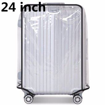 24 inch PVC Transparent Travel Luggage Protector Suitcase Cover Usable Waterproof fashionable