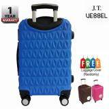 "J.T VESSEL: 1 Year Warranty Durable 24"" Triangle Diamond Hard Suitcase [Dark Blue] with Free Luggage Cover"