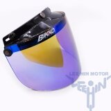 Bikko Crystal Green Tinted 3 Button Visor