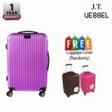 J.T VESSEL:1 Year Warranty Durable 24inch ABS + PC Hardcase TSA Luggage with Luggage Cover