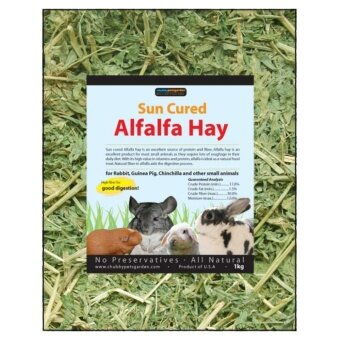 Chubbypetsgarden(R) Sun Cured Alfalfa Hay 500g (17.5oz)
