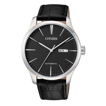 Citizen NH8350-08E Men Automatic Leather Strap Analog Watch
