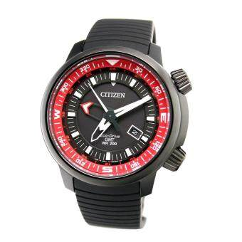 Citizen Watch Eco-Drive Promaster GMT Black Stainless-Steel Case Rubber Strap Mens Japan NWT + Warranty BJ7086-06E