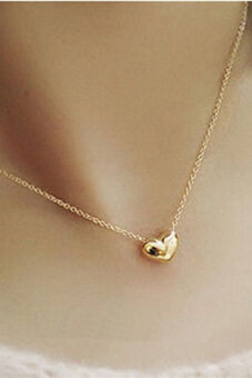 Gold Plated Women Heart Bib Statement Chain Pendant Necklace Jewelry