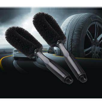 HengSong Auto Care Car Wheel Brush Tire Rim Hub Clean PlasticCoated Wire Wash Washing Cleaning Tool(Black)
