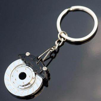 Hequ Creative Hot Sale Disc Brake Shape Auto Parts Keychain KeyChain Ring Key Fob Keyring 86032