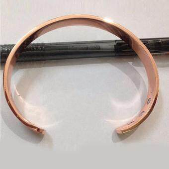 Hequ Pure Copper Magnet energy health open bangle plated goldsimple magnetic health bracelet bio healthy