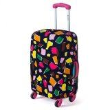 Joytour Stretchable Elastic Travel Luggage Bagasi Suitcase Protective Cover- Polygon Design S Size