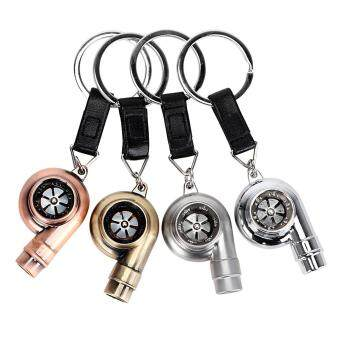 Matt Silver Turbo Keychains Auto Key Rings Vintage Decor for BMWKey Chain Car Styling Accessories for Automotive