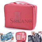 SOKANO TA001 Korean Style Toiletries Multipurpose Travel Pouch- Pink