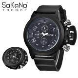 SoKaNo Trendz 7166 Men Premium Sport Watch - Black