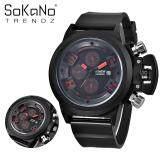 SoKaNo Trendz 7166 Men Premium Sport Watch - Red Red
