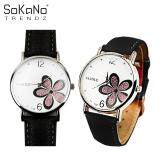 SoKaNo Trendz Yazole Woman Korean Fashion Flower Style Quartz Watch - Black