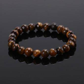 Tiger Eye Bracelets Bangles Elastic Rope Chain Natural StoneFriendship Bracelets for Women and Men Jewelry