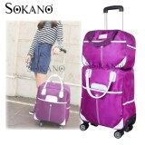 Travel Star 2 in 1 0569 Travel Bag with Trolley and 4 Free Rotatable Wheels - Purple
