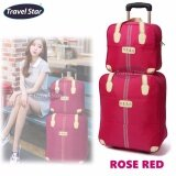 Travel Star 2 in 1 HERO Travel Bag with Trolley - Rose Red