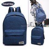Travel Star 364 Korean Style Premium Double Strap Backpack - Blue