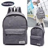 Travel Star 364 Korean Style Premium Double Strap Backpack - Grey