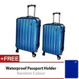 Travel Star A01 Hard Case ABS Luggage Bagasi 2 in1 Set 20 inches + 24 inches- Blue