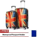 Travel Star Classic Flag Design Ultralight Weight PC Luggage Bagasi 2 in 1