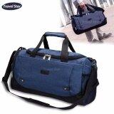 Travel Star Korean Style 1622 JLP Canvas Duffle Luggage Bagasi Bag - Blue