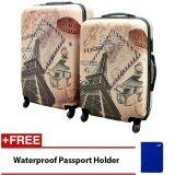 Travel Star Paris Holiday Ultralight Weight PC Luggage Bagasi 2 in 1 Set