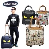TRAVEL STAR TS101 Large Capacity Travel Bag With Trolley-Paris Tower Design