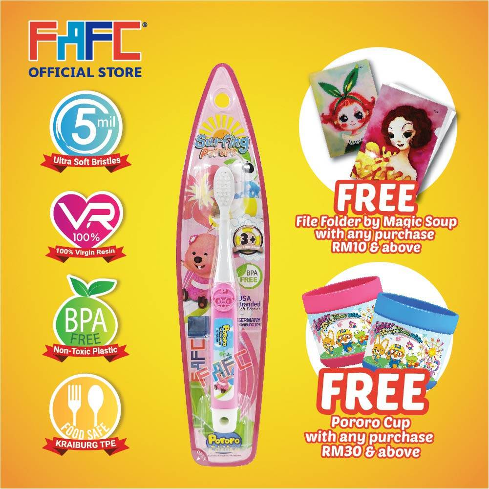 Loopy - (1 Pcs) FAFC Pororo Hook Kids Toothbrush