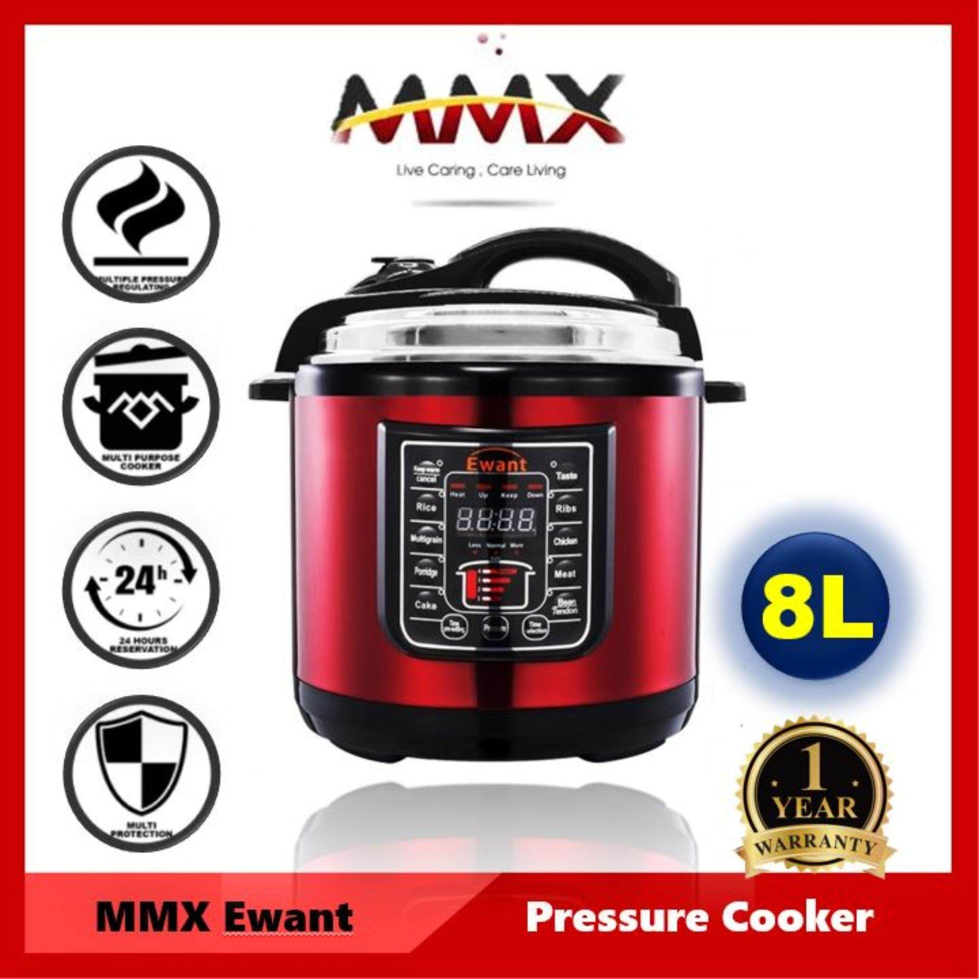 MMX - Ewant 8L Multi-Functional Electric Pressure Cooker (YBD6-100 8-in-1 with Malaysia Plug)