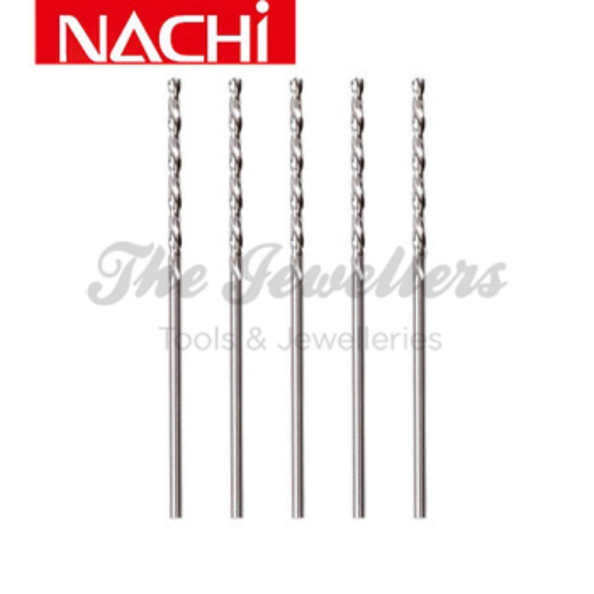 Nachi 10Pcs 1.0mm Standard Parallel Shank HSS Twist Drills