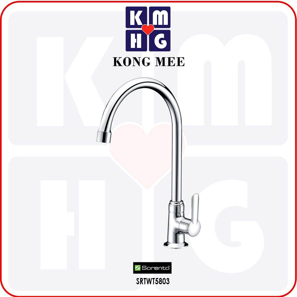 Sorento Italy - Wave 5800 Series Pillar Mounted Sink Tap (Counter-top Basin Faucet) (SRTWT5803) Kitchen Top Counter Restaurant Home Wash Dishes Water Soap Faucet Clean Pipe Food Cook Chef Premium Modern Luxury High Quality Long Lasting