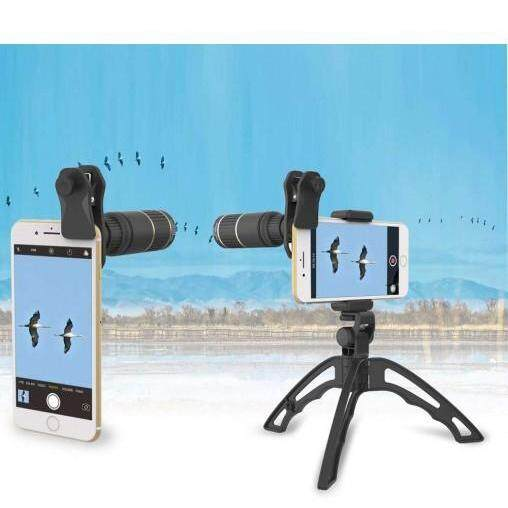 Apexel 16x phone mobile telescope camera lens with handheld tripod zoom lens APL-16XJJ04 handphone huawei P20 P10 P30 Mate Honor Nova oppo vivo xiaomi apple iphone samsung note 9