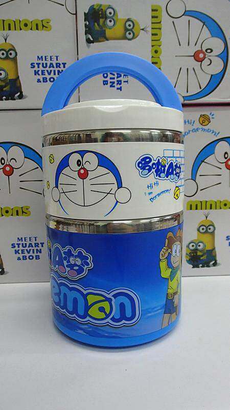 [Ready Stock] 2 Layer Stainless Steel Cartoon Lunch Box (BGJAYA)-Doraemon