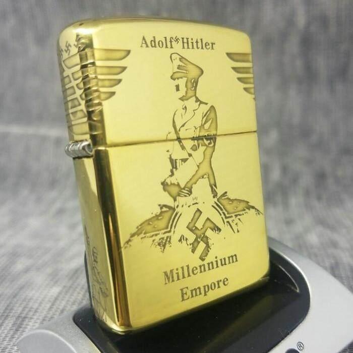 German War Armor Millennium Empore Zippo Lighter - Free Zippo Flints & Wick