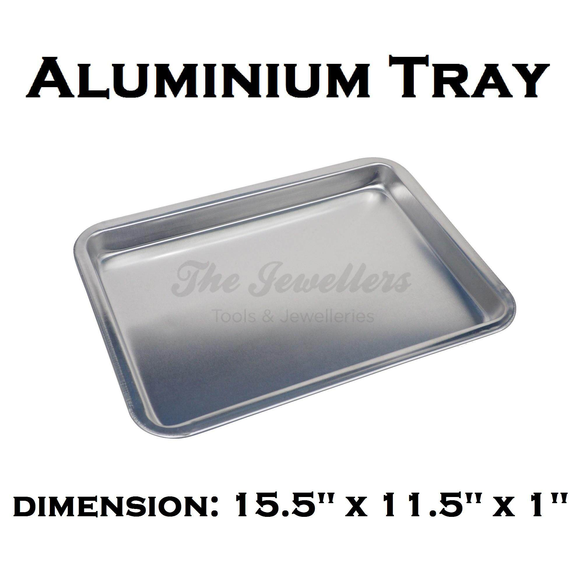 Aluminium Tray Bakeware Oven Sheet, Baking Pan Tray for Cookies, Pizza, and Cakes Dimension: 15.5
