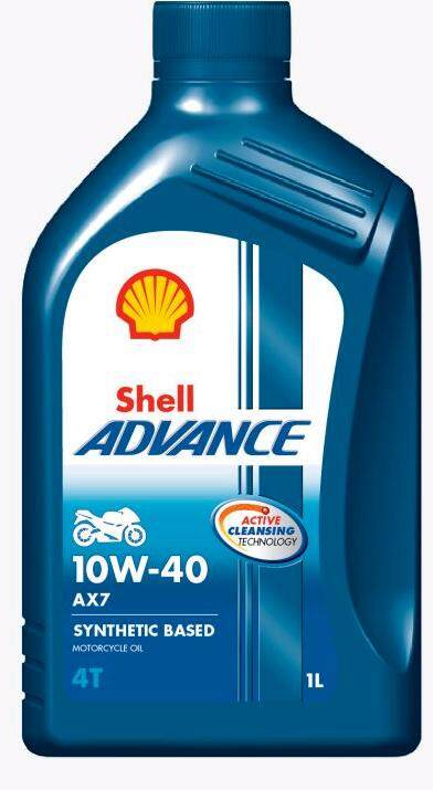SHELL ADVANCE MOTORCYCLE ENGINE OIL AX7 10W-40 1L