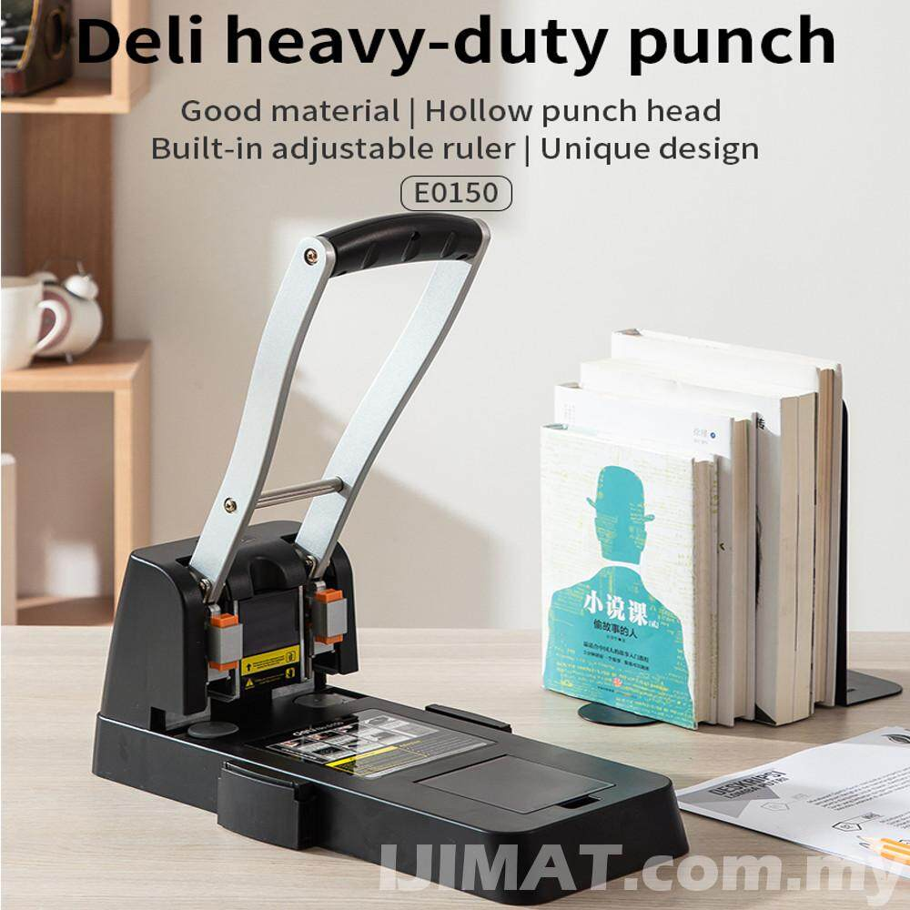 Heavy Duty Puncher Deli 0150 Two Holes Heavy Duty Punch 150pcs Thickened Drilling Machine / Puncher