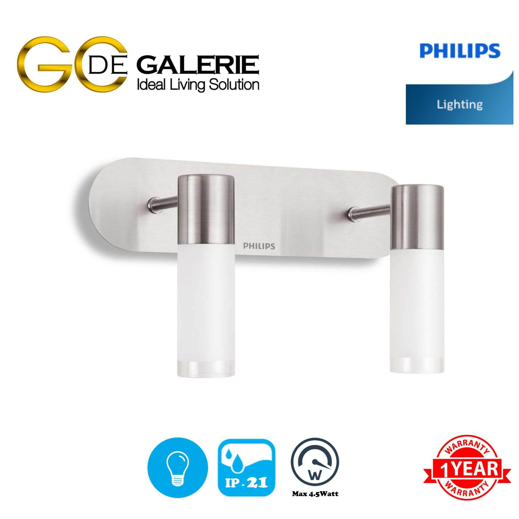 WALL LIGHT LED PHILIPS 30922 SATIN NICKEL 2x5W