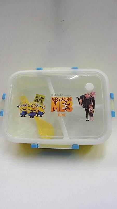[Ready Stock] Cartoon Lunch Box Food Containers (BGJAYA)-Minions