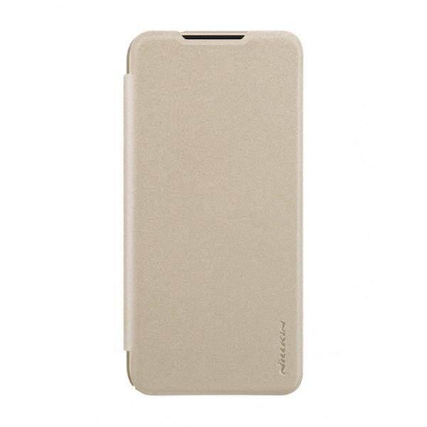 Nillkin Leather Case Sparkle Series Super Thin Flip Cover for Xiaomi Redmi Note 7 (Grey/Gold)