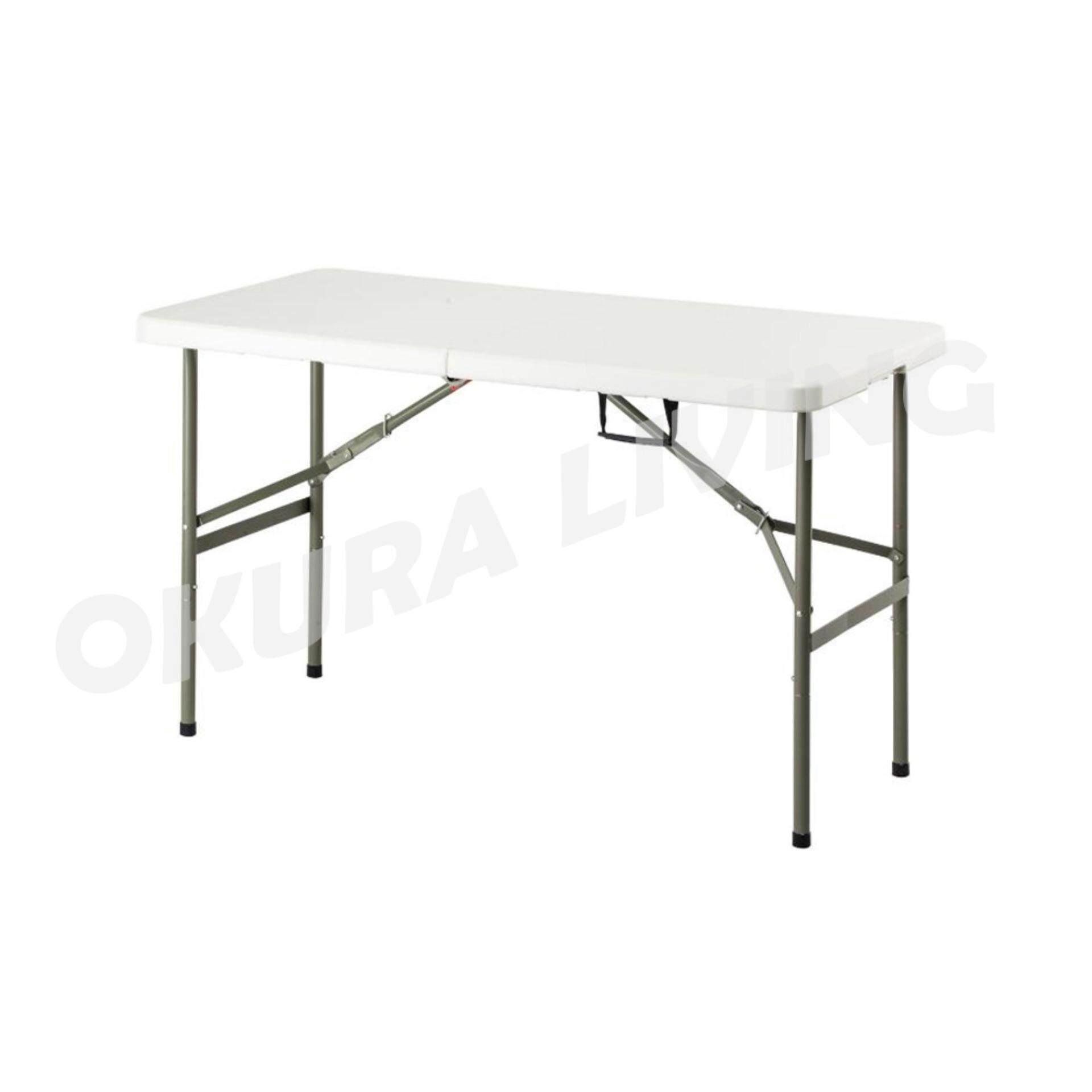OKURA Foldable Banquet Table Event / Catering / Hall / Buffet Folding Table Meja Lipat Niaga 4' x 2'