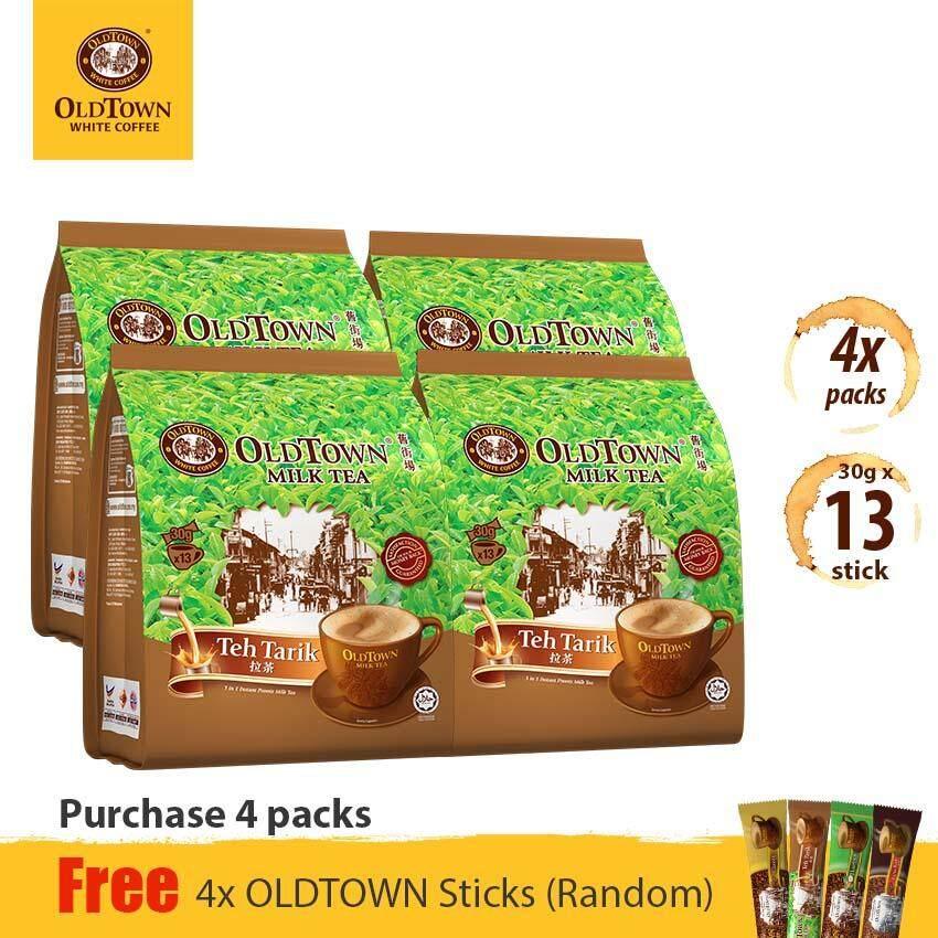 OLDTOWN Milk Tea 3-in-1 Instant Teh Tarik Milk Tea (13'S X 4 Packs) FREE Random 4 Sticks