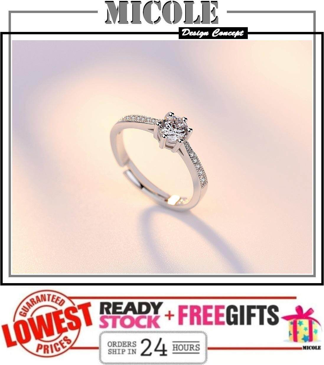 MICOLE RF3002 White Gold Plated Adjustable Ring Cincin