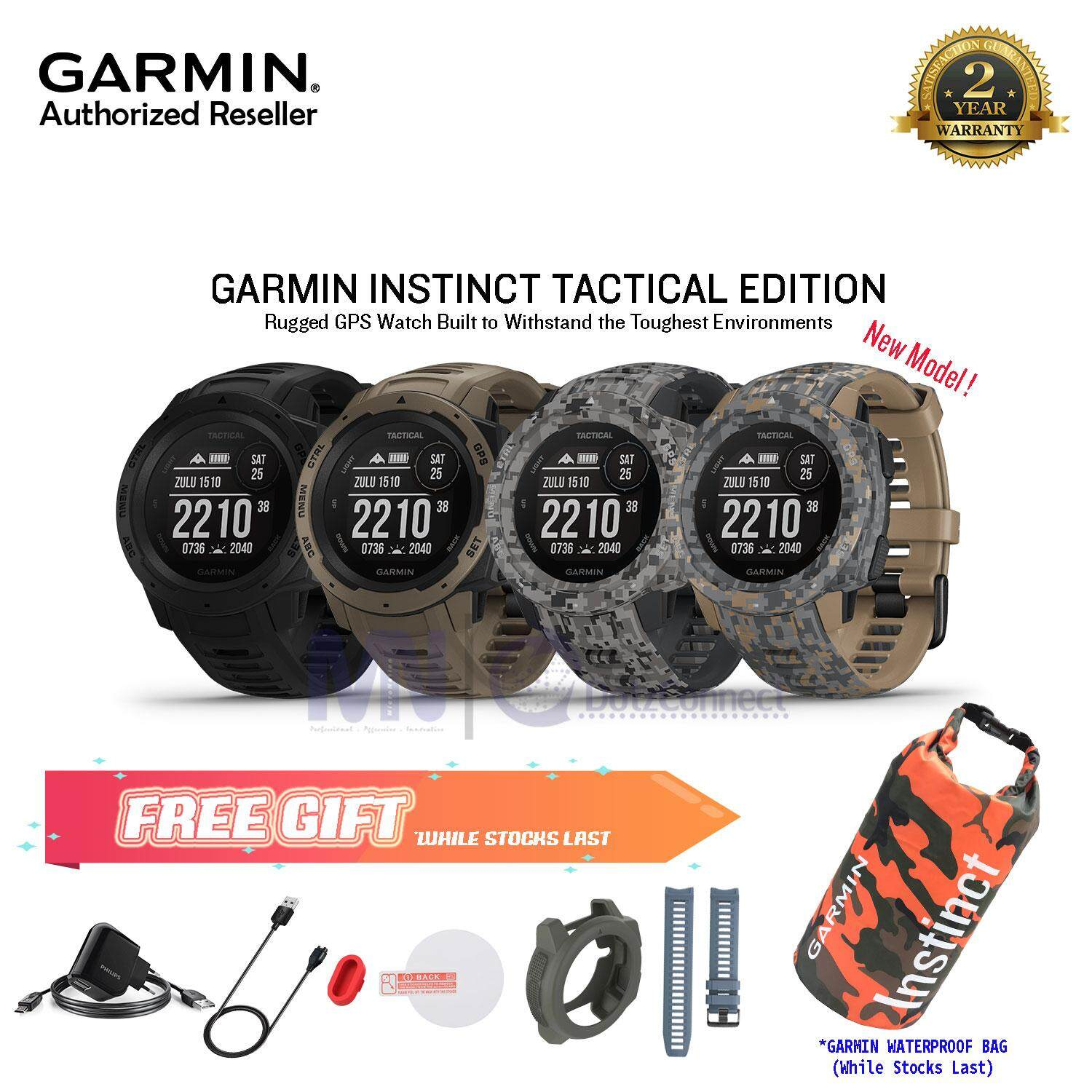 Garmin Instinct Tactical Edition Rugged, Outdoor GPS Watch ( NEW MODEL ) ( STOCK READY )-Tactical