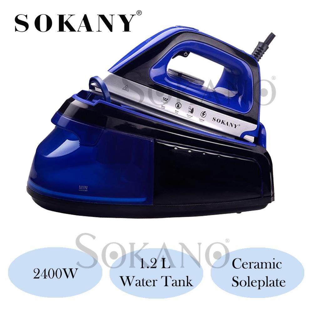 SOKANY SK188 2400 Watt Steam Iron Sterika Stim with 1.2L Water Tank