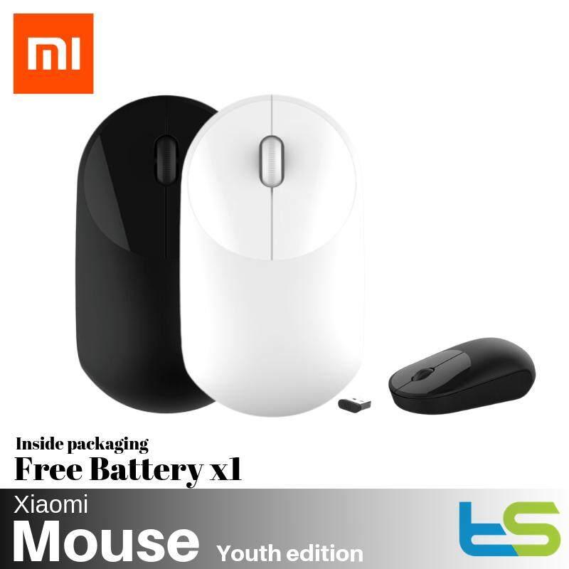 Original Xiaomi Mi Wireless Mouse (Youth Edition) Light weight WSB01TM [Black / White]