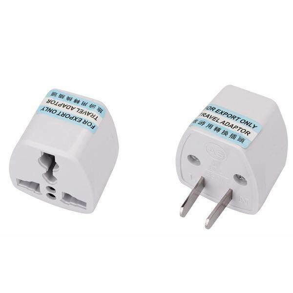UK US EU CN Travel 2/3 Pin Plug Adapter - Universal Converter for Oversea Appliances (White) - 1pcs 2 Pin Adapter